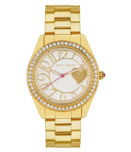 Betsey Johnson Gold Bling Time Heart Boyfriend Watch