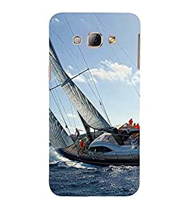 SAILORS SHIP WITH WILD SEA TIDES 3D Hard Polycarbonate Designer Back Case Cover for Samsung Galaxy A8 :: Samsung Galaxy A8 A800F (2015)