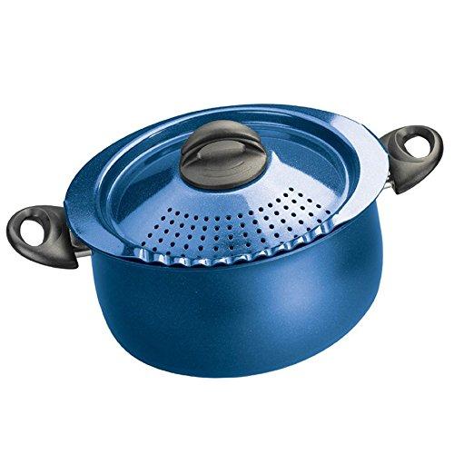 Bialetti 7184 Trends Collection 5 Quart Pasta Pot, Blue