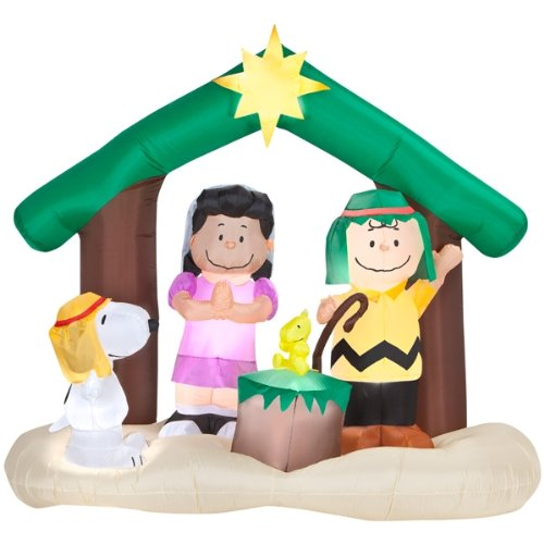 Inflatable Nativity Scene front-224853