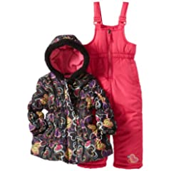Pink Platinum Girls 2-6X Heart Printed Snowsuit Set