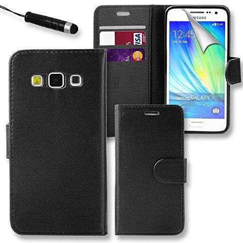 Connect-Zone-Samsung-Galaxy-J3-2016-Premium-PU-Leather-Flip-Wallet-Case-Cover-Pouch-Screen-Protector-Polishing-Cloth-And-Touch-Screen-Stylus