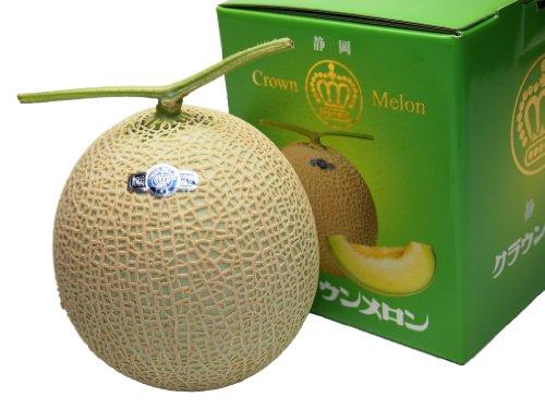 静岡県産 メロン クラウンメロン 1個 等級:白 1.3キロ以上