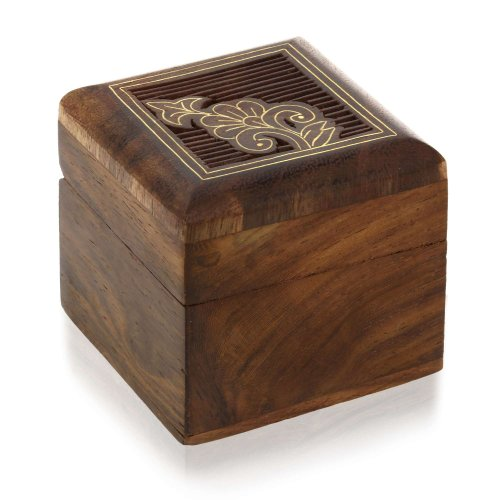 Small jewelry gift box wooden for rings earrings cufflinks for Jewelry box made of wood