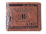 HENGSONG Men US Dollar Bill Wallet Leather Credit Card Photo...