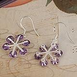 Pical Gorgeous Purple Snowflake Style Dangle Earrings