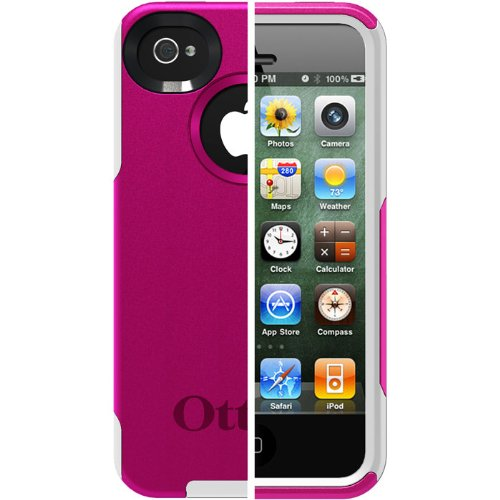 OtterBox Commuter Series Case for iPhone 4/4S - Retail Packaging - Hot Pink/White (Mobile Case Iphone 4s compare prices)