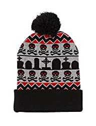 Ugly Pom Beanie Winter Hat - Skulls and Graves
