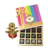 Chocholik Belgium Chocolates - Dark Flavour Truffle Collection Gift Box With Ganesha Idol - Diwali Gifts