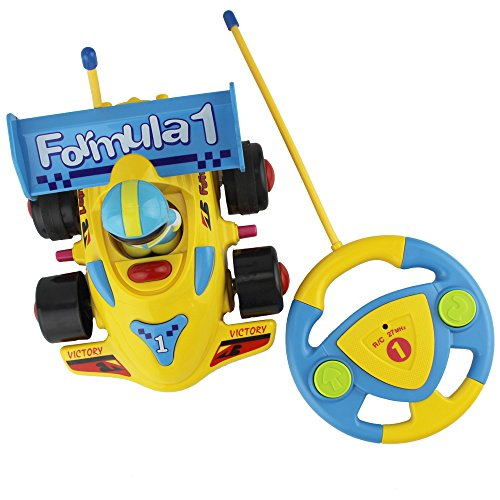Children Racing Cars Cartoon Steering Wheel Remote Control With Music Lighting Toys (Ford Lightning Rc Car compare prices)