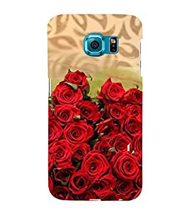 Bunch of red Roses 3D Hard Polycarbonate Designer Back Case Cover for Samsung Galaxy S6 :: Samsung Galaxy S6 G920
