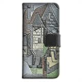 Juan Gris - Houses In Beaulieu, Texture Portafoglio Magnetico Flip Custodia in Pelle Stand Wallet Case Cover Shell...