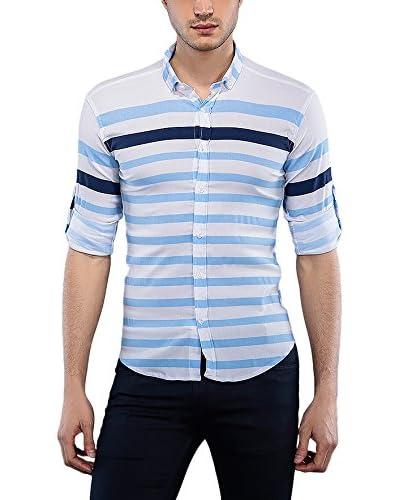 Philip Loren Camisa Hombre Blanco / Azul