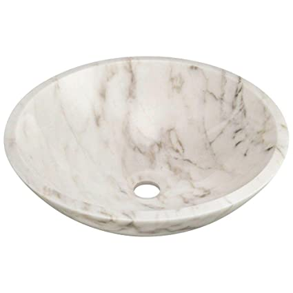 Stone Vessel Sink in Honed Basalt White Granite