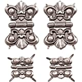 Hinges by Tim Holtz Idea-ology, 4 Hinges and 16 Fasteners, Antique Nickel Finish, TH93075