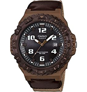 Casio Men's MRW-S300HB-5BVCF Tough Solar Digital Display Quartz Beige Watch