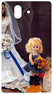 Wedding Dress Dolls Back Cover Case for Sony Xperia Z L36h