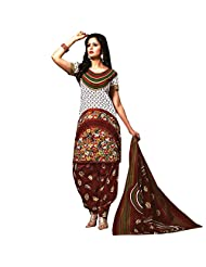 Siddhi Unstitched Cotton Printed Salwar Suit Dupatta Material ( 2012 )