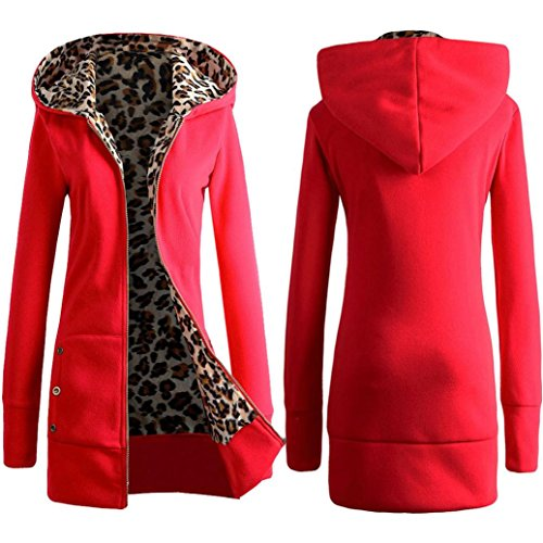 Jacket,Beautyvan Women's Fashion Windbreaker Warm Wool Slim Long Coat Trench (M, Red) (Wool Sweater Figures compare prices)
