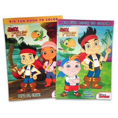 1 piece of JAKE AND THE NEVER LAND PIRATES 96pg COLORING BOOK