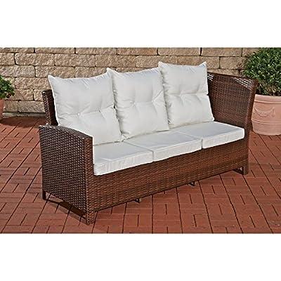 3er Sofa Bermeo braun-meliert von CLP bei Gartenmöbel von Du und Dein Garten