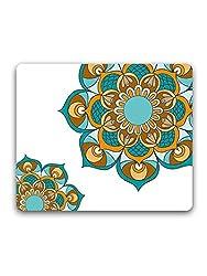 Madanyu - Blue Peacock Mandala - Mousepad - For Gamers - HD Print