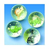 45mm Glitter Dinosaur Bouncy Ball 1 Dozen