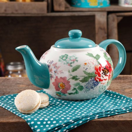 The Pioneer Woman Country Garden Teapot (Country Teapot compare prices)