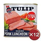 「チューリップ TULIP」 ポークランチョンミート 340g×12個 缶詰 非常食