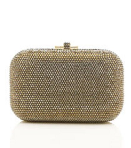 new-judith-leiber-classic-slide-lock-crystal-minaudiere-clutch-bronze-limited-edition-retail-1995
