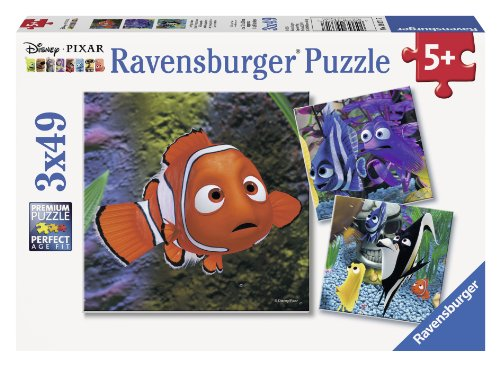 Ravensburger Disney Pixar: In the Aquarium (3 x 49-Piece) Puzzles in a Box
