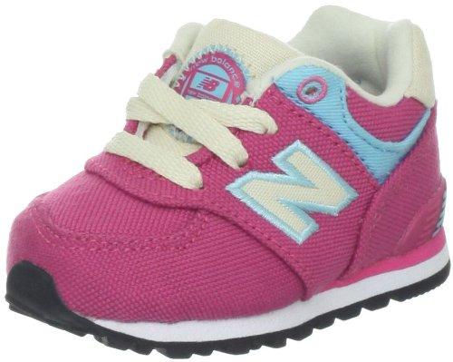 New Balance Kl574 Classic I Running Shoe (Infant/Toddler),Pink/Blue,10 M Us Toddler