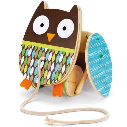 Skip Hop Treetop Friends Flapping Owl Pull Toy Toy, Kids, Play, Children front-810636