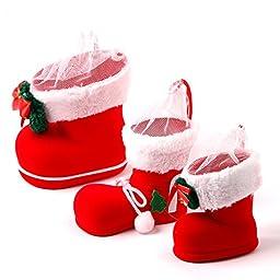XDOBO Classic Christmas Stockings Cute Santa\'s Toys Stockings Hand Crafted Christmas Stockings