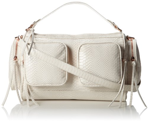 BCBGeneration Kai The J T T Top Handle Bag,Biscuit,One Size