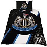 Official Newcastle United FC Duvet Set - A Great Gift / Present For Men, Boys, Sons, Husbands, Dads, Boyfriends For Christmas, Birthdays, Fathers Day, Valentines Day, Anniversaries Or Just As A Treat For Any Avid Football Fan