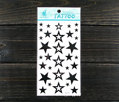 SYZ Beauty Waterproof Temporary Tattoos Pentagram Star Tattoos