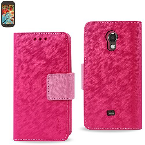 Reiko 3-In-1 Wallet Case for Samsung Galaxy Light T399 – Retail Packaging – Pink