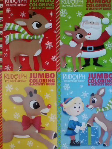 Rudolph The Red-Nosed Reindeer Coloring & Activity Book Set of 4 - 1