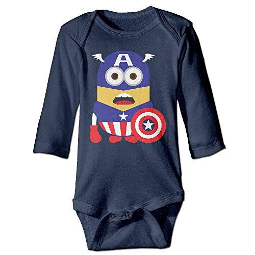 [DETED Captain Minion Fashion Newborn Baby Climb Romper Size6 M Navy] (Baby Megamind Costume)