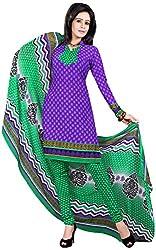 Manmauj Women's Cotton Unstitched Dress Material (MM10066DBLU, Blue)