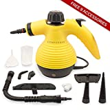 * TOP RATED * Handheld Multi-purpose Pressurized Steam Cleaner for stain removal, curtains, bed bug control, car seats and more UK PLUG