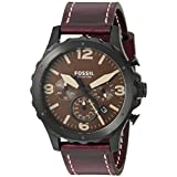 Fossil Men's JR1502 Stainless Steel Watch With Brown Leather Band