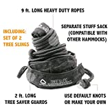 BEST DEAL! Ends Today! - Nimbus Hammock Tree Sling Hanging Kit - Heavy Duty 9ft. Suspension Tree Straps Perfect for Camping Nylon Hammocks (set of 2) | Designed in USA