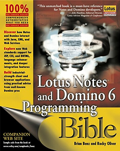 Books download kindle free Lotus Notes and Domino 6 Programming Bible (English literature)