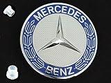Mercedes 1973+ Hood emblem Badge insignia KIT r107 w126 r129 w140 r170 w203 w209