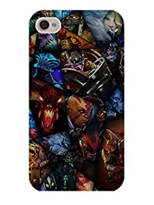 iPhone 4 Cover - DOTA Heroes - Designer Printed Hard Shell Case