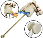 Childrens Kids Wooden Hobby Horse wit...