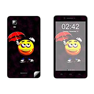 Skintice Designer Vinyl Skin Sticker for Micromax Doodle 3 A102, Design - Emoticon Face