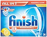 Finish All In 1 Lemon Sparkle 7 x Pack of 26 (182 Dishwasher Tablets)
